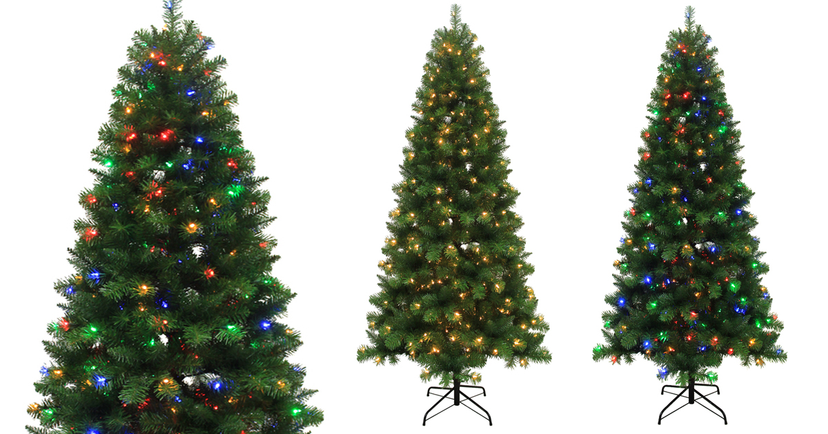 Lowe's: 7.5-ft Alpine Artificial Christmas Tree W/ Color