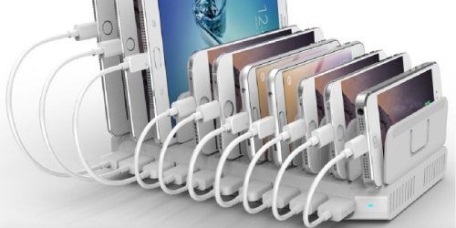 Amazon: UNITEK 10-Port USB Charger Charging Station Only $24.93 (Regularly $42.99+)