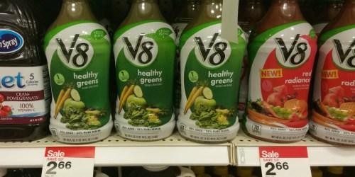 Target Cartwheels: New Beverage Offers = V8 Veggie Blends Only 60¢, BodyArmor Sports Drink Only 62¢