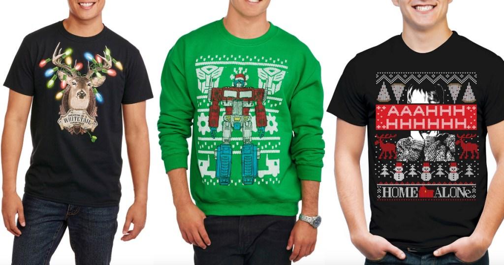 Walmartcom Mens Christmas Novelty Tees And Sweatshirts Starting
