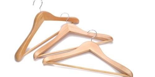 Amazon: J.S. Hanger 3-Pack Non-Slip Wooden Hangers Only $9.99 (Best Price)