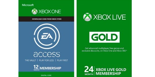 $80 for Xbox Live 24-Month Gold Membership, $100 Kohl's eGift Card ONLY $95 & More