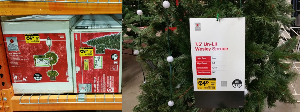 Home Depot: 75% Off In-Store Christmas Clearance = $9.99 Tree Dazzler, $19.99 6.5ft Pre-Lit Tree