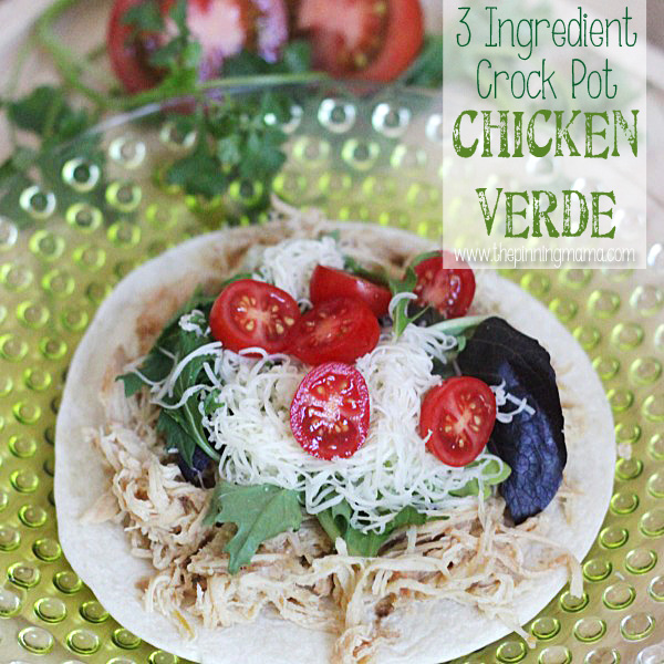 3 ingredient crock pot chicken verde