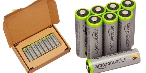 AmazonBasics AA High-Capacity Rechargeable Batteries 8-Pack Only $15.99 Shipped