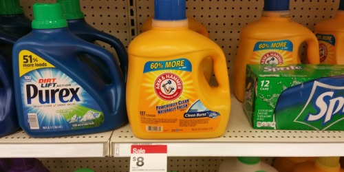 Target: LARGE Arm & Hammer Laundry Detergent Bottles Only $3.45 Each (After Gift Card)