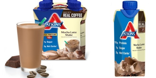 Amazon: Atkins Ready to Drink Mocha Latte Shakes 4 Pack Only $3.79 Shipped