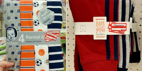 Target: Possible Baby Clearance Deals = $1.48 Gerber Blankets, $4.48 Gerber Sleep 'n Play 3-Packs + More