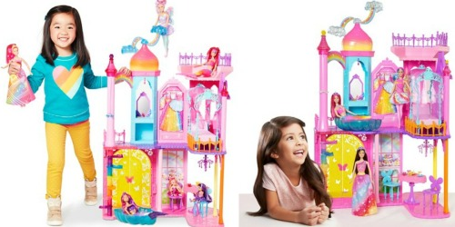 Barbie Dreamtopia Rainbow Cove Princess Castle Only $34.98 Shipped (Regularly $99.99)