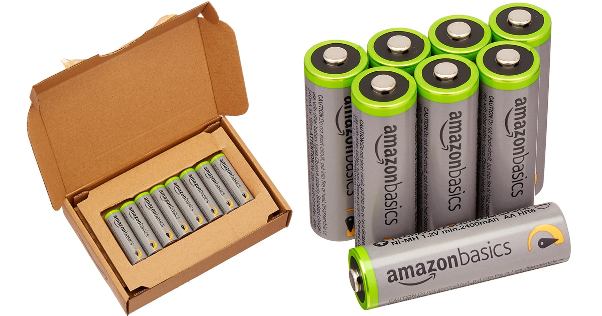 Amazon Basics AA High-Capacity Rechargeable Batteries 8