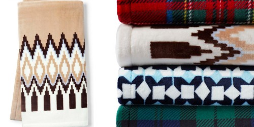 Lands End: 25% Off Your Entire Order = Plush Fleece Printed Throws Only $11.99 (Regularly $24)