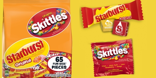 Amazon: Skittles & Starburst 65 Piece Candy Assortment Only $6.12 Shipped + More Great Deals