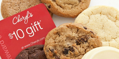 Cheryl's 6 Cookie Sampler + $10 Reward Card $6.99 Shipped (Fun Way to Brighten Someone's Day)