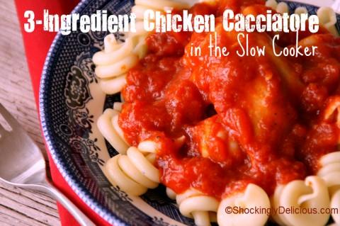 3 ingredient slow cooker chicken cacciotore