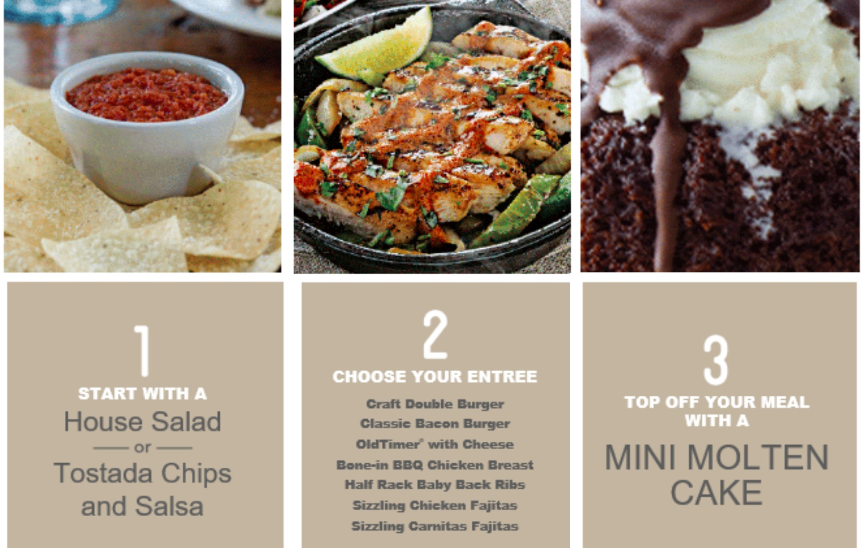 photograph regarding Chilis Printable Menu called Chilis Bar Grill: 3-Class Supper Simply $10 (Contains