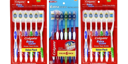 Amazon: Colgate Extra Clean Toothbrush 6-Pack ONLY $3.72 Shipped (62¢ Per Toothbrush)