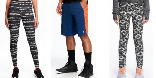 Old Navy: Men's Active Shorts Only $10, Girls Compression Leggings Only $12 + More