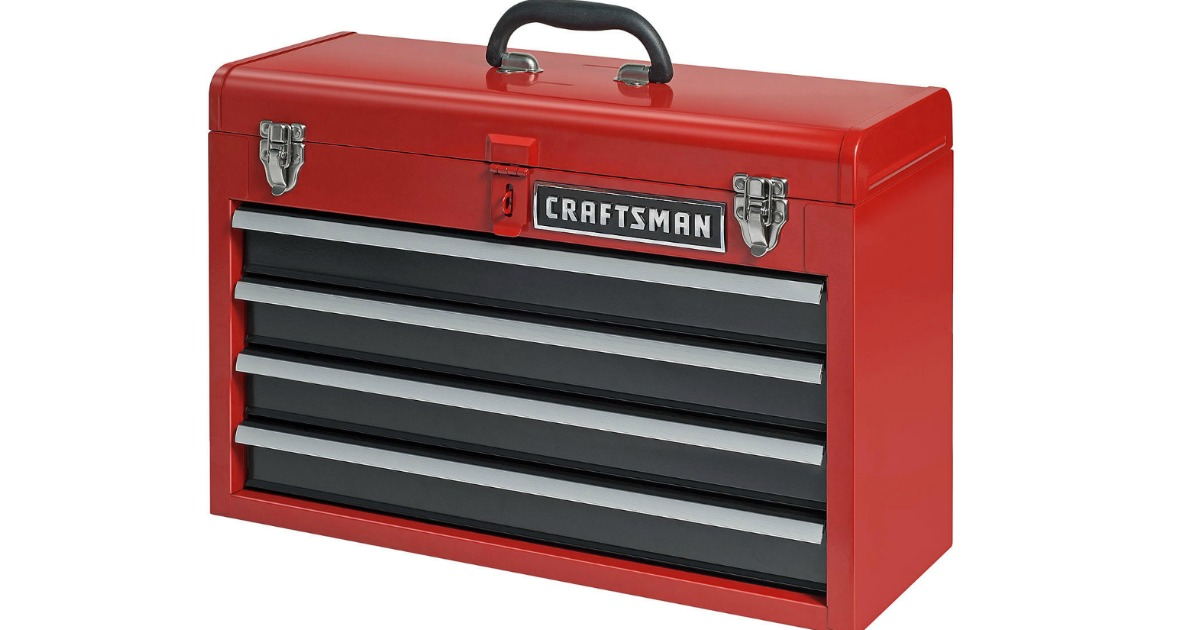 Sears Com Craftsman 4 Drawer Portable Tool Chest Only 49 99 Regularly 69 99 Hip2save