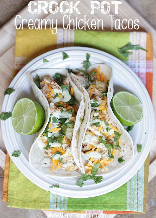 Easy Slow Cooker Creamy Taco Chicken