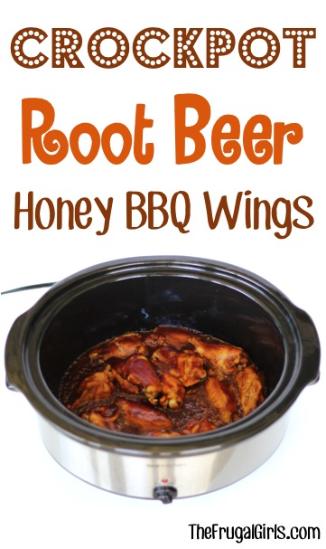 3 ingredient slow cooker root beer honey bbq wings