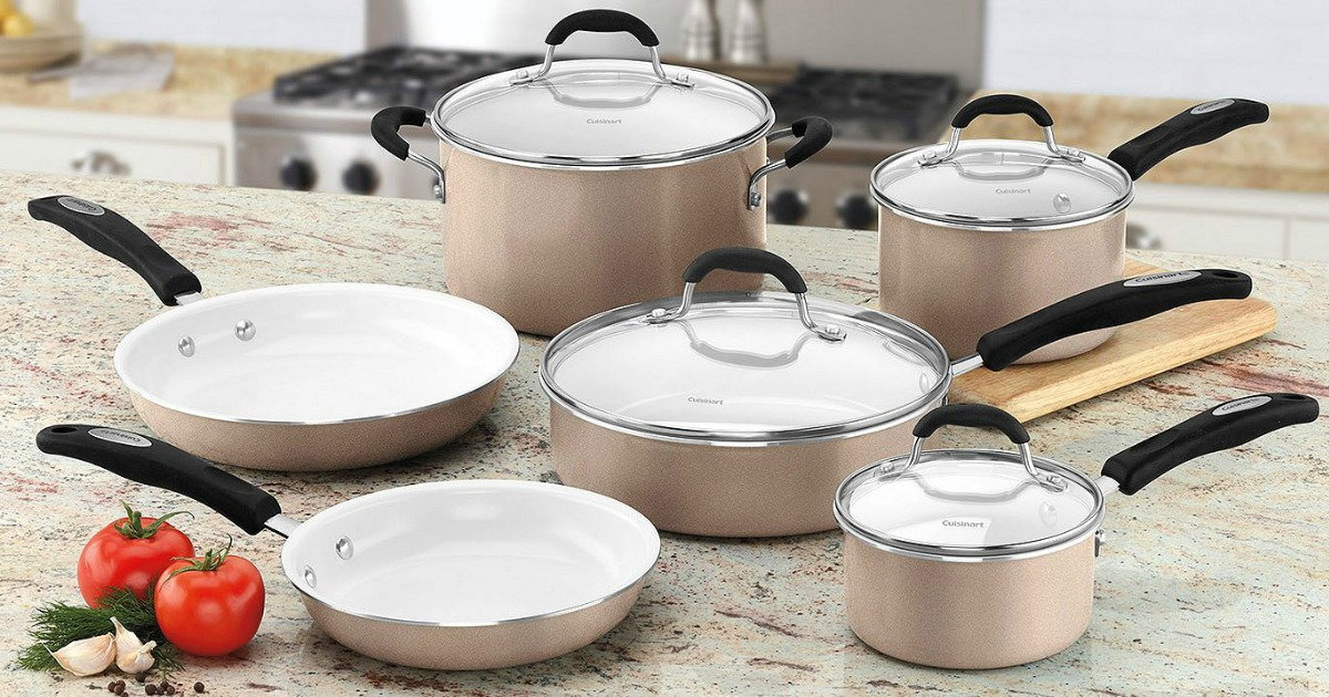 Sam S Club Cuisinart Ceramic Nonstick 10 Piece Cookware