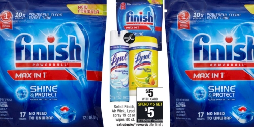 CVS: Finish Powerball Max in 1 Dishwasher Tabs ONLY $1.33 Each (After ExtraBucks)