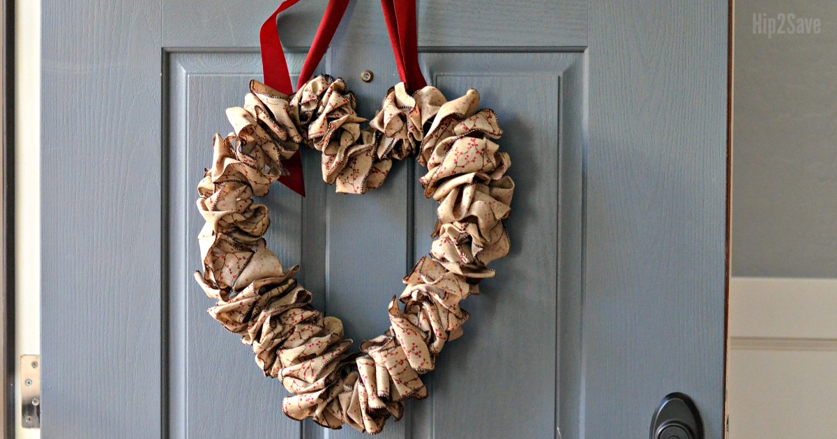Wire Hanger Valentine S Day Wreath Using Leftover Christmas