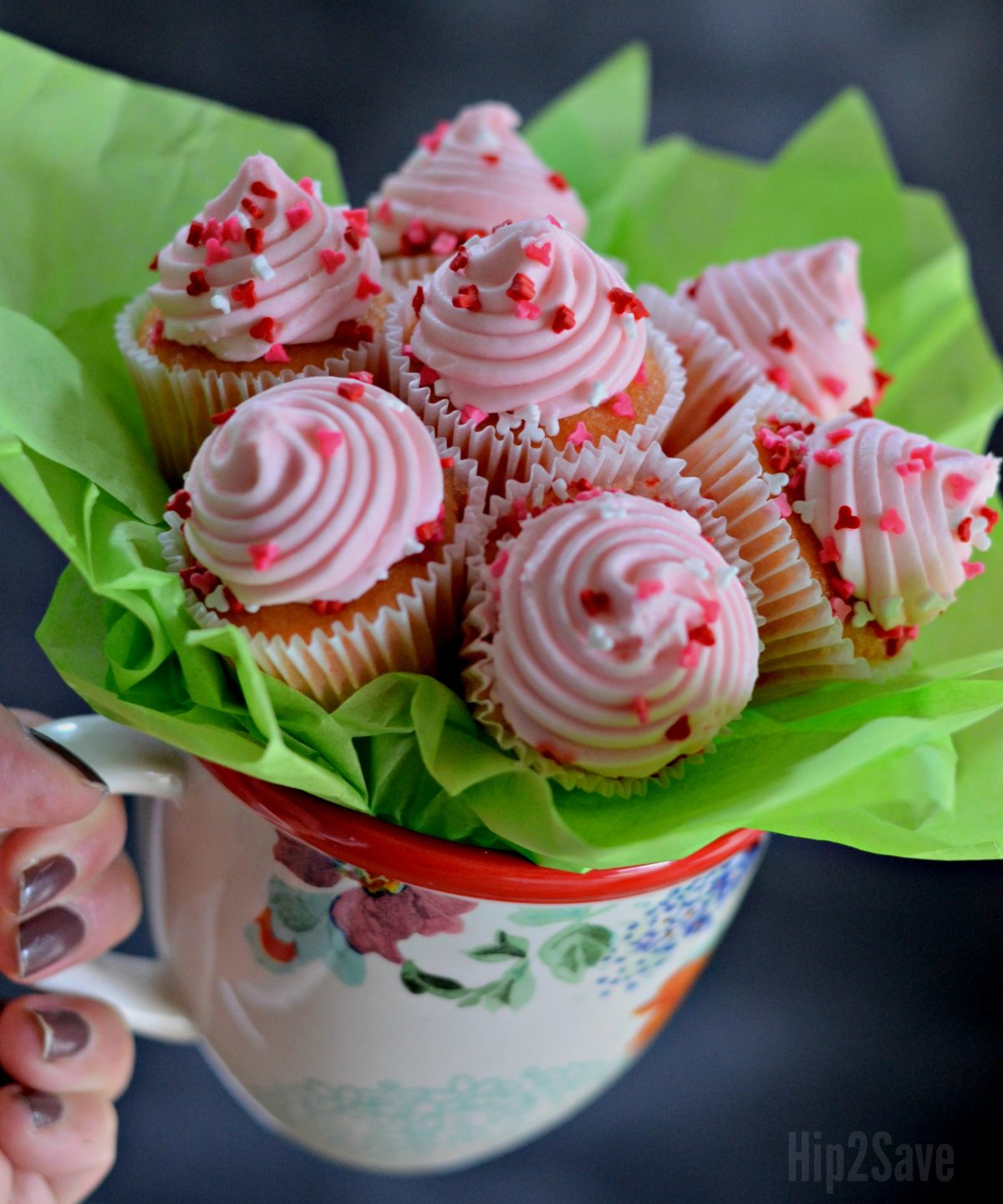 easy mini cupcake bouquet gift