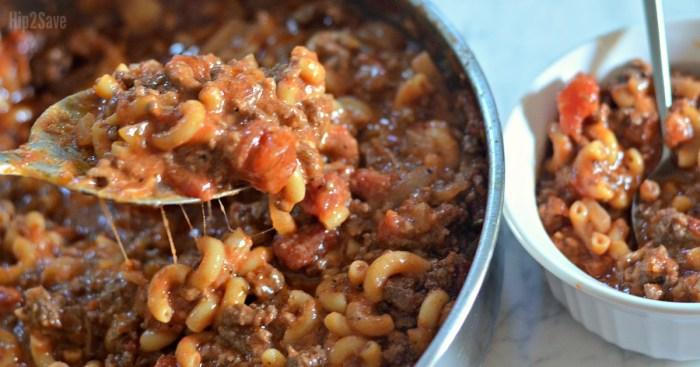 Old-Fashioned One Pot Goulash Recipe