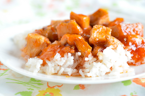 Easy Slow cooker Sweet n Sour Chicken