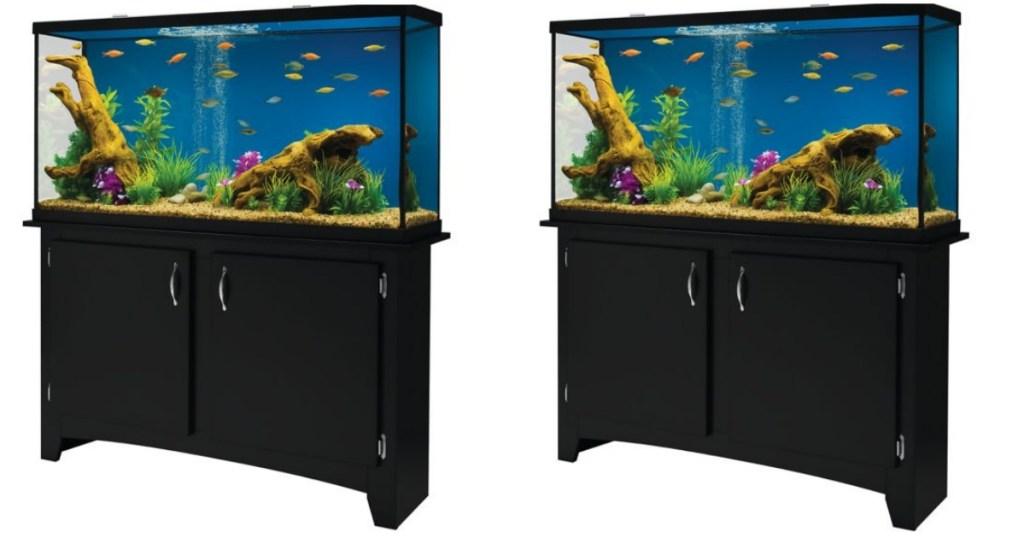 petsmart marineland 60 gallon led aquarium with stand only 154 99