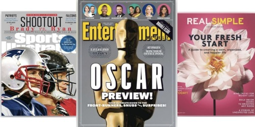 FREE Magazine Subscriptions: Sports Illustrated, Entertainment Weekly, Real Simple + More