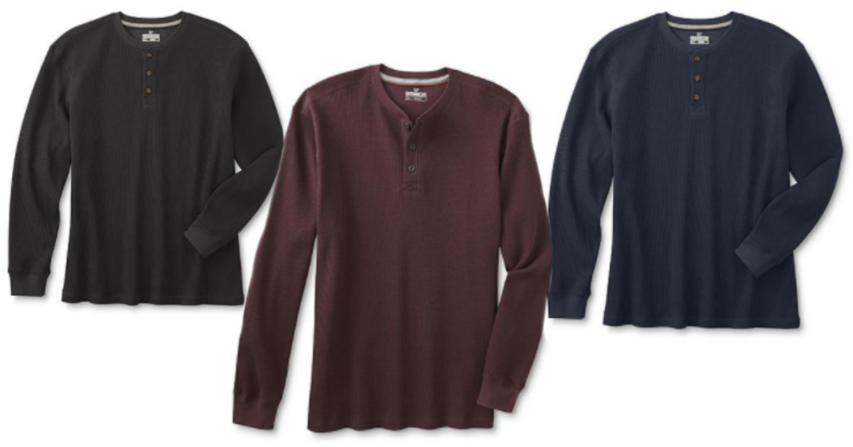 64630b69 Sears.com: Men's Outdoor Life Thermal Henley Shirts Only $7.65 (Regularly  $30) - Hip2Save
