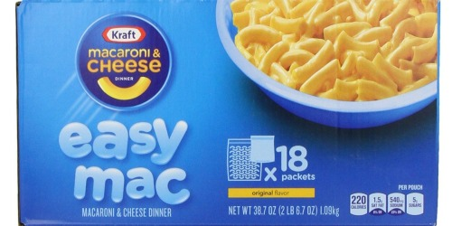 Amazon: Kraft Easy Mac 18-Count Single Serve Packs Only $6.06 Shipped (Just 34¢ Each)