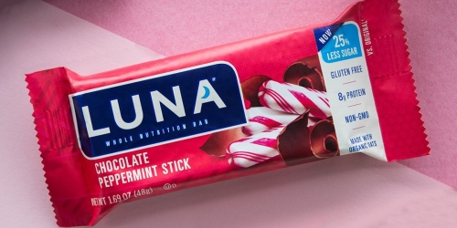 Luna Bar 36-Pack Just $23 Shipped on Amazon | Only 65¢ Each