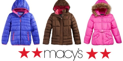 Macy's: Kid's Coats Only $19.99 (Regularly $85)