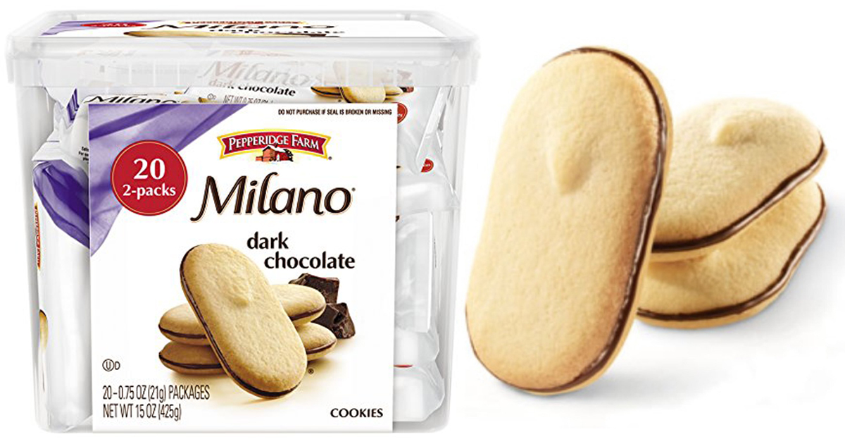 Amazon Pepperidge Farm Milano Cookie Tub Only 6 82 Shipped Just 34 Per Pack Hip2save