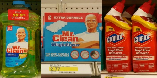 Target: Save BIG on Household Cleaners – Mr. Clean, Clorox, Windex & More (After Gift Card)