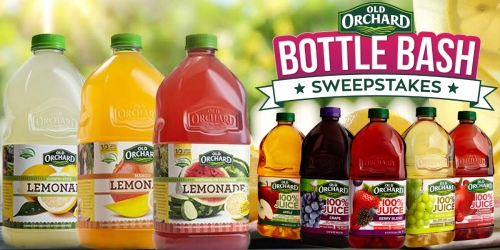 Old Orchard Sweepstakes: 8,080 Win FREE Juice Coupons (+ 20 Win Free Juice for a Year)