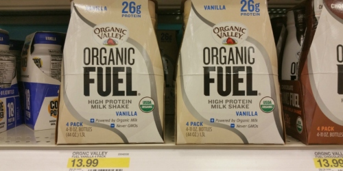 Target Cartwheel: NEW 30% Off Organic Valley Protein Shakes Offer = 4-Packs as Low as $1.54