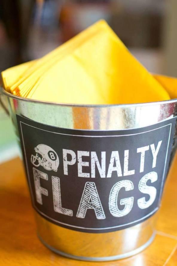 Super Bowl Penalty Flags Napkins