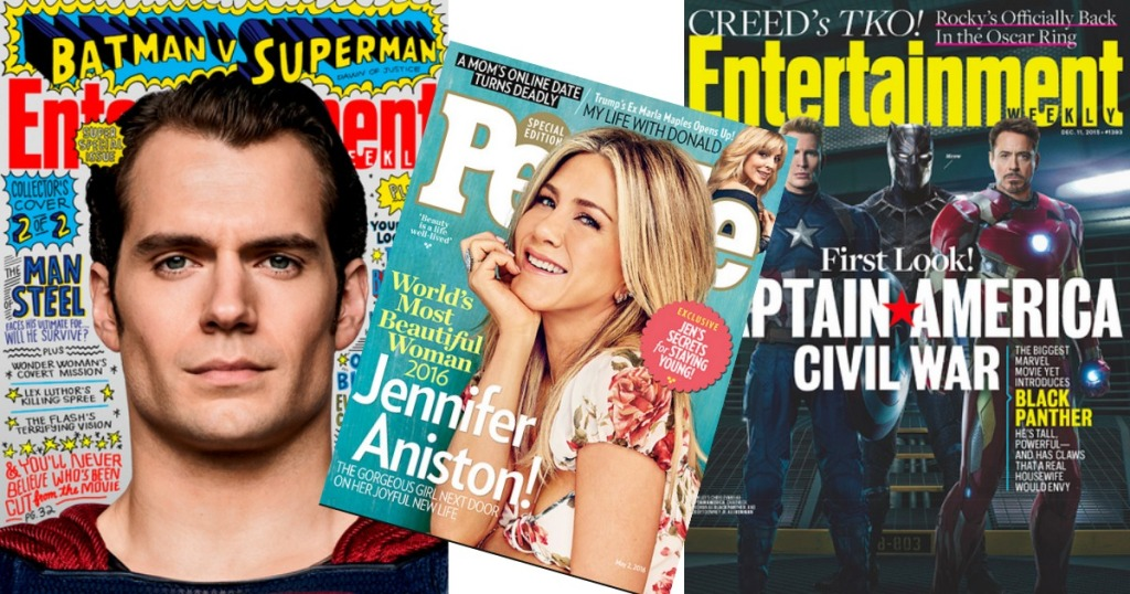 FREE Entertainment Weekly Or People Magazine Subscription