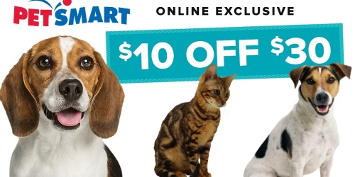 PetSmart.com: $10 Off $30 Online Purchase = $47 worth of Dog Products Only $25.37