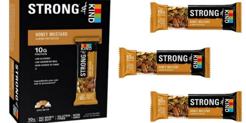 Amazon: STRONG & KIND Honey Mustard Savory Protein Bars 12-Pack $8.46 Shipped