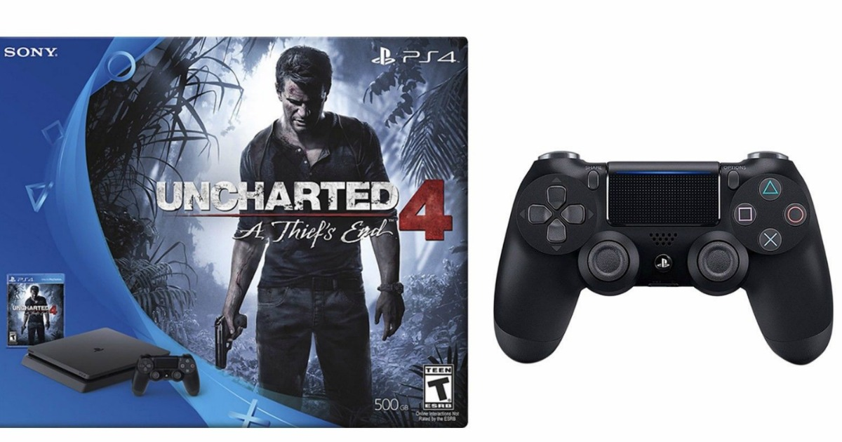 Playstation 4 500gb Console Uncharted 4 Bundle Extra Controller