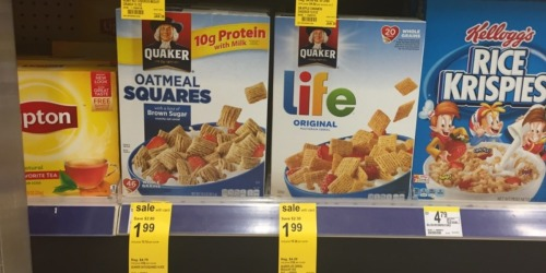 Walgreens: Quaker Cereal Only $1.49 Per Box (Regularly $4.99)