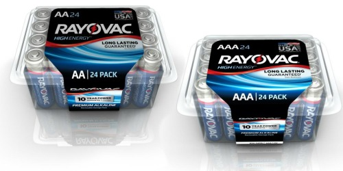 HomeDepot.com: Rayovac AA/AAA 24-Pack Batteries Only $4 Each (17¢ Per Battery)