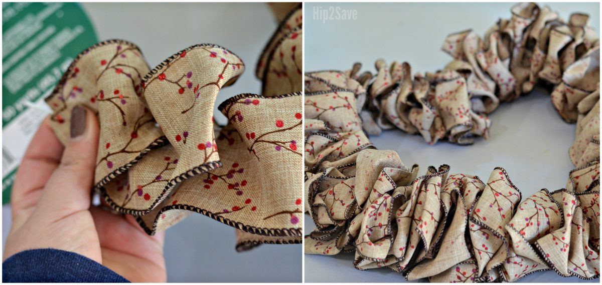 ribbon-and-wire-hanger-diy-wreath