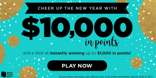 Shop Your Way Instant Win Game & Sweeps: Enter to Win $10,000 in Points & More