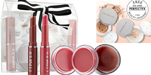 Sephora.com: Clinique Honey Lip Set, Free Mini Setting Powder & Samples Just $25